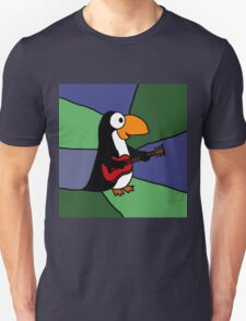 Awesome Penguin Playing Red Guitar T-Shirt