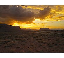 Monument Valley Sunset Photographic Print