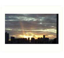 Makiki Sunset Art Print