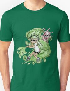Splatoon inkling in action T-Shirt