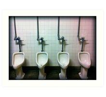 urinals Art Print