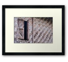 old window Framed Print