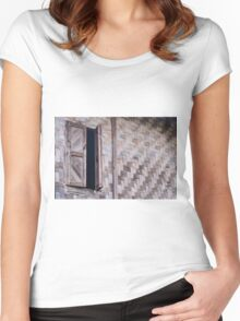old window Women's Fitted Scoop T-Shirt