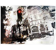 London Traffic Lights Poster