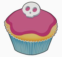 Skull Cupcake (pink) - sticker/light background Kids Clothes