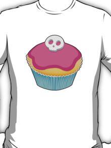 Skull Cupcake (pink) - sticker/light background T-Shirt
