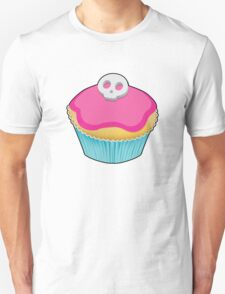 Skull Cupcake (pink) - sticker/light background Unisex T-Shirt