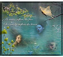 Love is like a reflection in the water Photographic Print