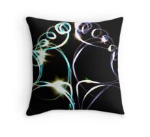 light show - at home with some torches Throw Pillow