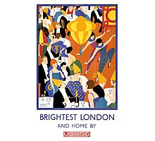 Brightest London Vintage Poster Restored Photographic Print