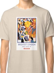 Brightest London Vintage Poster Restored Classic T-Shirt