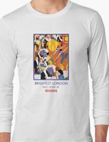 Brightest London Vintage Poster Restored Long Sleeve T-Shirt