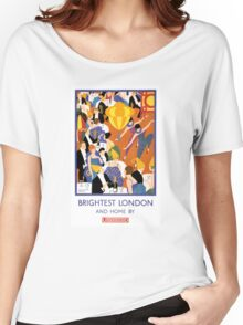 Brightest London Vintage Poster Restored Women's Relaxed Fit T-Shirt