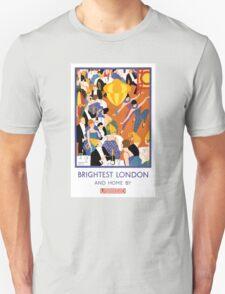 Brightest London Vintage Poster Restored Unisex T-Shirt