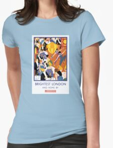 Brightest London Vintage Poster Restored Womens Fitted T-Shirt