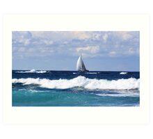 sails at kingscliff ... Art Print