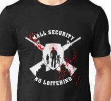 Zombie Mall Security White Unisex T-Shirt