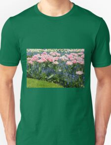 Foxtrot tulips blooming in garden T-Shirt