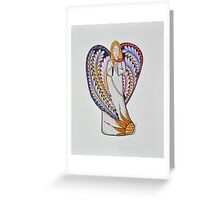 Angel/9 - Blonde Hair Greeting Card