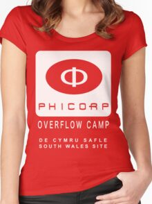 Torchwood: PhiCorp camps Women's Fitted Scoop T-Shirt
