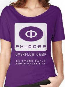 Torchwood: PhiCorp camps Women's Relaxed Fit T-Shirt