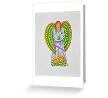 Angel/7 - Long Braids Greeting Card