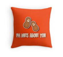 I'm nuts about you Throw Pillow