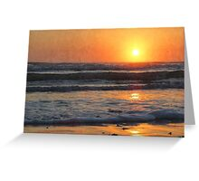 Sunrise on the Surf at South Padre Greeting Card