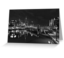 Melbourne at Night (Australia) Greeting Card