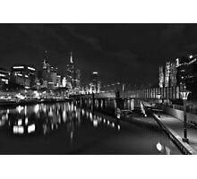Melbourne at Night (Australia) Photographic Print