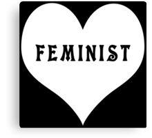 Feminist Heart Canvas Print