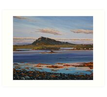 Sunset on Euval, North Uist Art Print