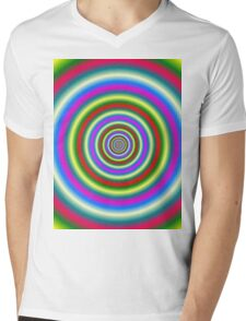 Rings in Red Yellow Blue and Green Mens V-Neck T-Shirt