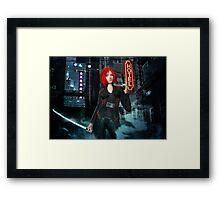 The Cyberpunk Assassin Framed Print