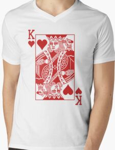 King of Hearts - Red Mens V-Neck T-Shirt