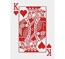 King of Hearts - Red Photographic Print
