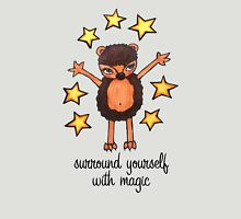 Surround Yourself with Magic: Cute Hedgehog Watercolor Drawing Womens Fitted T-Shirt