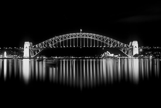 Sydney harbour Bridge and The Opera House by Thomas Joannes