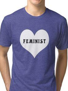 Feminist Heart Tri-blend T-Shirt