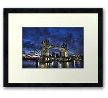 Tower Bridge Blue Hour Framed Print