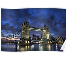 Tower Bridge Blue Hour Poster
