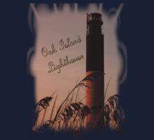 Oak Island Lighthouse T-Shirt by Sandy Woolard