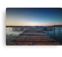 Balaton Pier Canvas Print