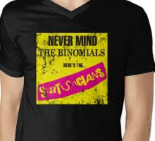 Never Mind The Binomials - Distressed Mens V-Neck T-Shirt