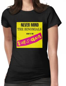 Never Mind The Binomials Womens Fitted T-Shirt