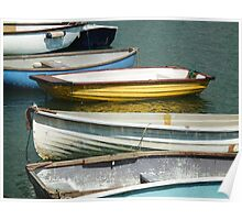 Rowboats In The Harbour At Lyme Poster