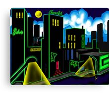 """IntenseCity: Neon Nights"" Canvas Print"