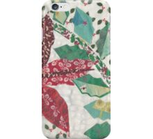 Poinsettia and Holly in the Snow iPhone Case/Skin