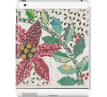 Poinsettia and Holly in the Snow iPad Case/Skin
