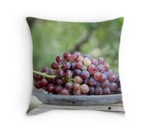 Grapes for the table Throw Pillow